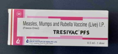 Tresivac vaccine is given to prevent measles mumps and rubella at age 9 months and 15 months and 5 years. It is MMR vaccine