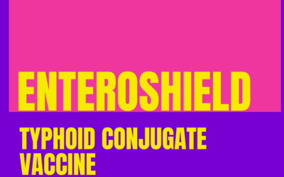 Enteroshield is typhoid conjugate vaccine given to prevent enteric fever at age 9 months and a booster at or above 2 years of age.