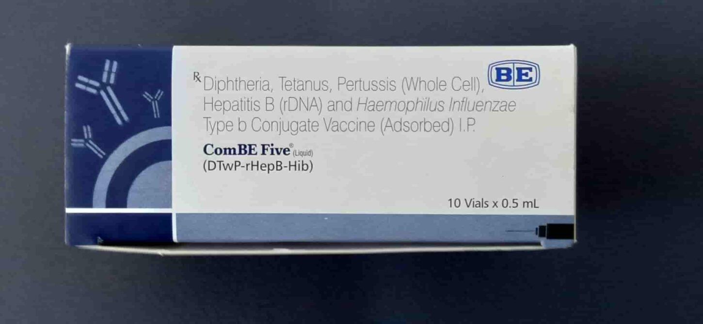 ComBe Five is a pentavalent vaccine that prevents diphtheria, pertussis, tetanus, HiB, Hepatitis B these 5 infectious diseases.